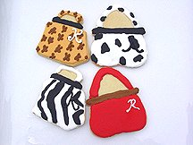 Monogrammed Cookie Favors - Purses
