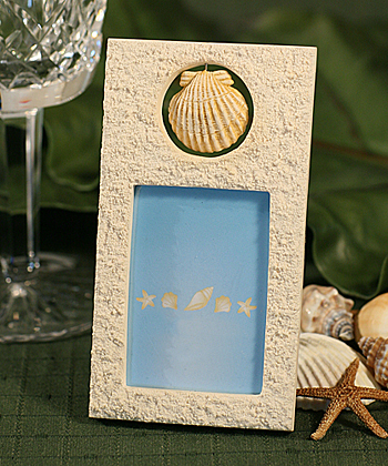 Beach Shell Photo Placecard Holder