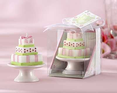 Pastel Cake Candle Favor