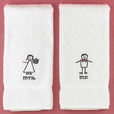 Mr. and Mrs. Hand Towels