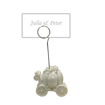 cinderella car place card holder is perfect for your fairy tale wedding