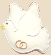 Wedding Dove Cookie Favors