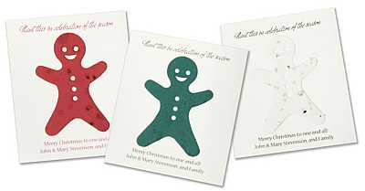 Plantable Gingerbread ManTree Card