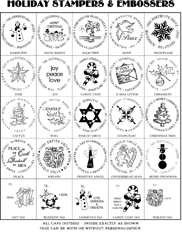 holiday customer stampers and embossers
