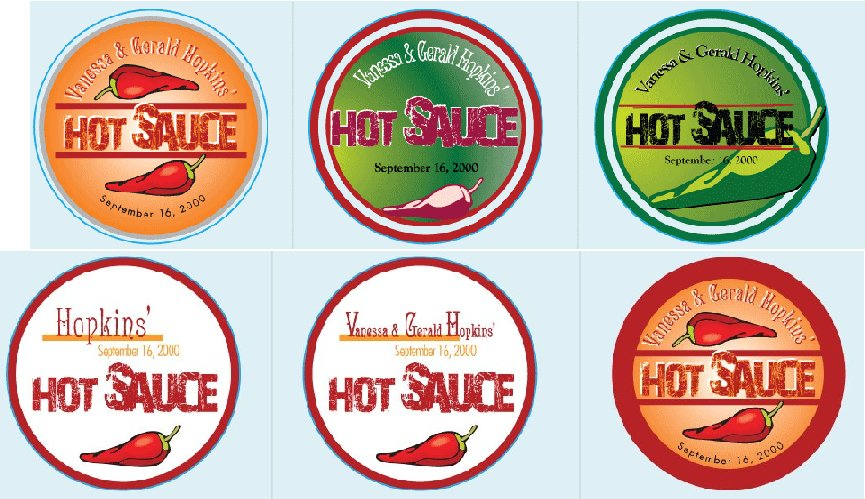 personalized hot sauce labels