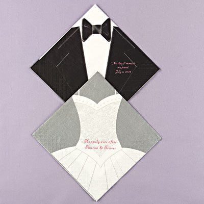 Wedding Napkins Personalized Cheap