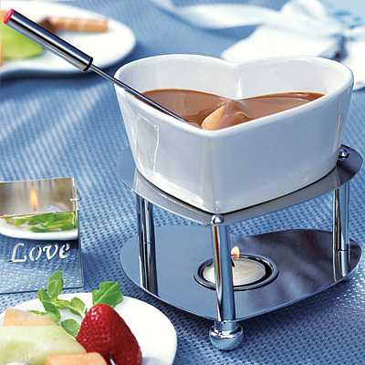 Heart Shaped Fondue Set